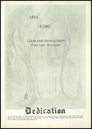 Page 5, 1953 Edition, Clear Lake High School - Echo Yearbook (Clear Lake, WI) online yearbook collection