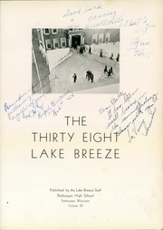 Page 7, 1938 Edition, Central High School - Lake Breeze Yearbook (Sheboygan, WI) online yearbook collection