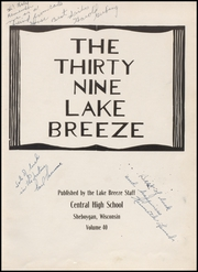 Page 7, 1939 Edition, Central High School - Lake Breeze Yearbook (Sheboygan, WI) online yearbook collection