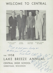 Page 5, 1958 Edition, Central High School - Lake Breeze Yearbook (Sheboygan, WI) online yearbook collection