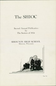 Page 5, 1924 Edition, Shiocton High School - Shioc Yearbook (Shiocton, WI) online yearbook collection