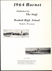 Page 5, 1964 Edition, Rosholt High School - Hornet Yearbook (Rosholt, WI) online yearbook collection