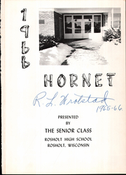 Page 6, 1966 Edition, Rosholt High School - Hornet Yearbook (Rosholt, WI) online yearbook collection