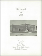 Page 7, 1957 Edition, Belleville High School - Oracle Yearbook (Belleville, WI) online yearbook collection