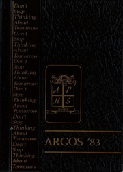 Abbot Pennings High School - Argos Yearbook (De Pere, WI) online yearbook collection, 1983 Edition, Page 1