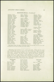 Page 17, 1919 Edition, Appleton High School - Clarion Yearbook (Appleton, WI) online yearbook collection
