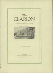 Page 5, 1928 Edition, Appleton High School - Clarion Yearbook (Appleton, WI) online yearbook collection