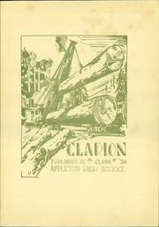 Page 5, 1930 Edition, Appleton High School - Clarion Yearbook (Appleton, WI) online yearbook collection