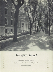 Page 5, 1951 Edition, St Bonaventure High School - Seraph Yearbook (Sturtevant, WI) online yearbook collection