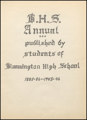 Page 5, 1946 Edition, Bloomington High School - Annual Yearbook (Bloomington, WI) online yearbook collection