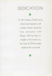 Page 9, 1934 Edition, Kemper Hall School - Kodak Yearbook (Kenosha, WI) online yearbook collection