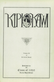 Page 7, 1920 Edition, Racine High School - Kipikawi Yearbook (Racine, WI) online yearbook collection