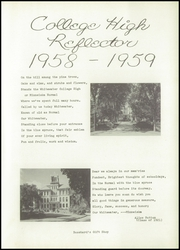 Page 5, 1959 Edition, Whitewater College High School - Reflector Yearbook (Whitewater, WI) online yearbook collection