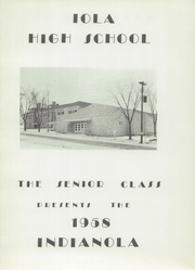 Page 5, 1958 Edition, Iola High School - Indianola Yearbook (Iola, WI) online yearbook collection