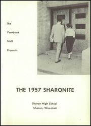 Page 5, 1957 Edition, Sharon High School - Sharonite Yearbook (Sharon, WI) online yearbook collection