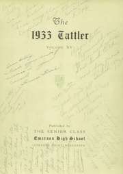Page 7, 1933 Edition, Emerson High School - Tattler Yearbook (Stevens Point, WI) online yearbook collection