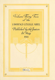 Page 2, 1922 Edition, Lawrence University - Ariel Yearbook (Appleton, WI) online yearbook collection
