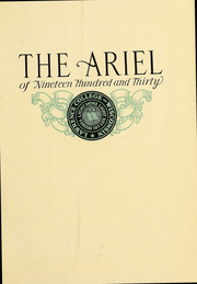 Page 4, 1930 Edition, Lawrence University - Ariel Yearbook (Appleton, WI) online yearbook collection
