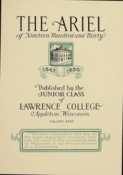 Page 6, 1930 Edition, Lawrence University - Ariel Yearbook (Appleton, WI) online yearbook collection