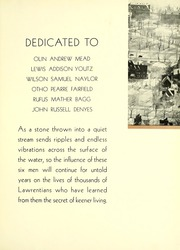Page 11, 1935 Edition, Lawrence University - Ariel Yearbook (Appleton, WI) online yearbook collection