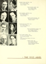 Page 16, 1935 Edition, Lawrence University - Ariel Yearbook (Appleton, WI) online yearbook collection