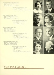 Page 17, 1935 Edition, Lawrence University - Ariel Yearbook (Appleton, WI) online yearbook collection