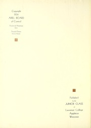 Page 6, 1935 Edition, Lawrence University - Ariel Yearbook (Appleton, WI) online yearbook collection