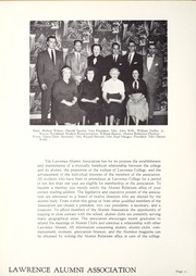 Page 16, 1956 Edition, Lawrence University - Ariel Yearbook (Appleton, WI) online yearbook collection