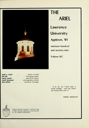 Page 5, 1979 Edition, Lawrence University - Ariel Yearbook (Appleton, WI) online yearbook collection
