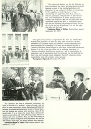Page 13, 1980 Edition, Lawrence University - Ariel Yearbook (Appleton, WI) online yearbook collection