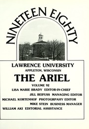 Page 5, 1980 Edition, Lawrence University - Ariel Yearbook (Appleton, WI) online yearbook collection