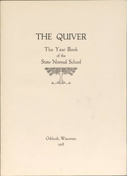 Page 3, 1918 Edition, University of Wisconsin Oshkosh - Quiver Yearbook (Oshkosh, WI) online yearbook collection