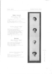 Page 15, 1910 Edition, University of Wisconsin Stevens Point - Horizon / Iris Yearbook (Stevens Point, WI) online yearbook collection