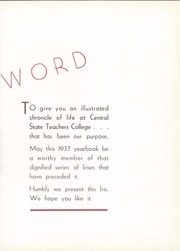 Page 7, 1937 Edition, University of Wisconsin Stevens Point - Horizon / Iris Yearbook (Stevens Point, WI) online yearbook collection