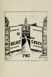 Page 5, 1907 Edition, Beloit College - Codex Yearbook (Beloit, WI) online yearbook collection