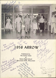 Page 5, 1958 Edition, Union High School - Arrow Yearbook (Wisconsin Dells, WI) online yearbook collection
