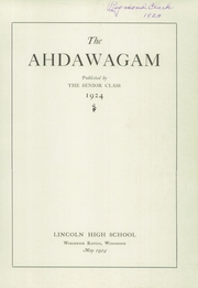 Page 5, 1924 Edition, Lincoln High School - Ahdawagam Yearbook (Wisconsin Rapids, WI) online yearbook collection