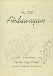Page 5, 1946 Edition, Lincoln High School - Ahdawagam Yearbook (Wisconsin Rapids, WI) online yearbook collection