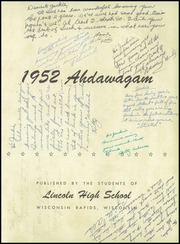 Page 5, 1952 Edition, Lincoln High School - Ahdawagam Yearbook (Wisconsin Rapids, WI) online yearbook collection
