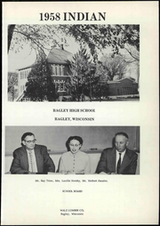 Page 7, 1958 Edition, Bagley High School - Indian Yearbook (Bagley, WI) online yearbook collection