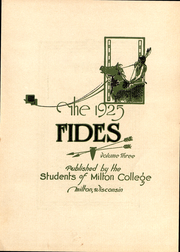 Page 4, 1925 Edition, Milton College - Fides Yearbook (Milton, WI) online yearbook collection