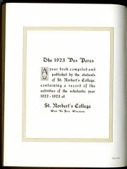 Page 6, 1923 Edition, St Norbert College - Des Peres Yearbook (De Pere, WI) online yearbook collection