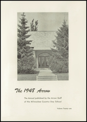 Page 5, 1948 Edition, Milwaukee Country Day School - Arrow Yearbook (Milwaukee, WI) online yearbook collection