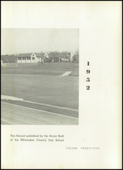 Page 7, 1952 Edition, Milwaukee Country Day School - Arrow Yearbook (Milwaukee, WI) online yearbook collection
