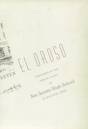 Page 7, 1937 Edition, San Jacinto High School - El Oroso Yearbook (Houston, TX) online yearbook collection