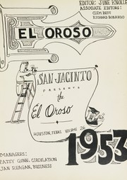 Page 5, 1953 Edition, San Jacinto High School - El Oroso Yearbook (Houston, TX) online yearbook collection