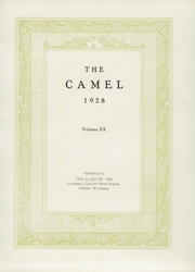 Page 7, 1928 Edition, Campbell County High School - Camel Yearbook (Gillette, WY) online yearbook collection