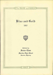Page 7, 1927 Edition, Sheridan High School - Blue and Gold Yearbook (Sheridan, WY) online yearbook collection