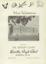 Page 7, 1949 Edition, Riverton High School - Wolverine Yearbook (Riverton, WY) online yearbook collection