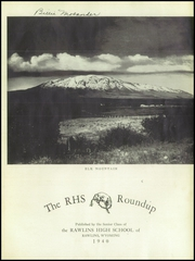 Page 5, 1940 Edition, Rawlins High School - Round Up Yearbook (Rawlins, WY) online yearbook collection